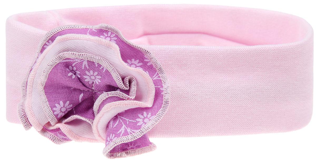 Повязка на голову для девочки Lucky Child Цветочки, цвет: светло-розовый. 11-94. Размер 4011-94Очаровательная повязка для девочки Lucky Child Цветочки отлично подойдет для солнечной жаркой погоды или для создания праздничного образа. Симпатичный аксессуар защитит голову от яркого солнца или возьмет на себя функцию ободка. Повязка, выполненная из натурального хлопка, оформлена пришитым текстильным многослойным цветком. Изделие не сдавливает голову малышки и превосходно тянется. Повязка завершит образ вашей маленькой принцессы и станет незаменимым аксессуаром в детском гардеробе. Уважаемые клиенты!Размер, доступный для заказа, является обхватом головы.