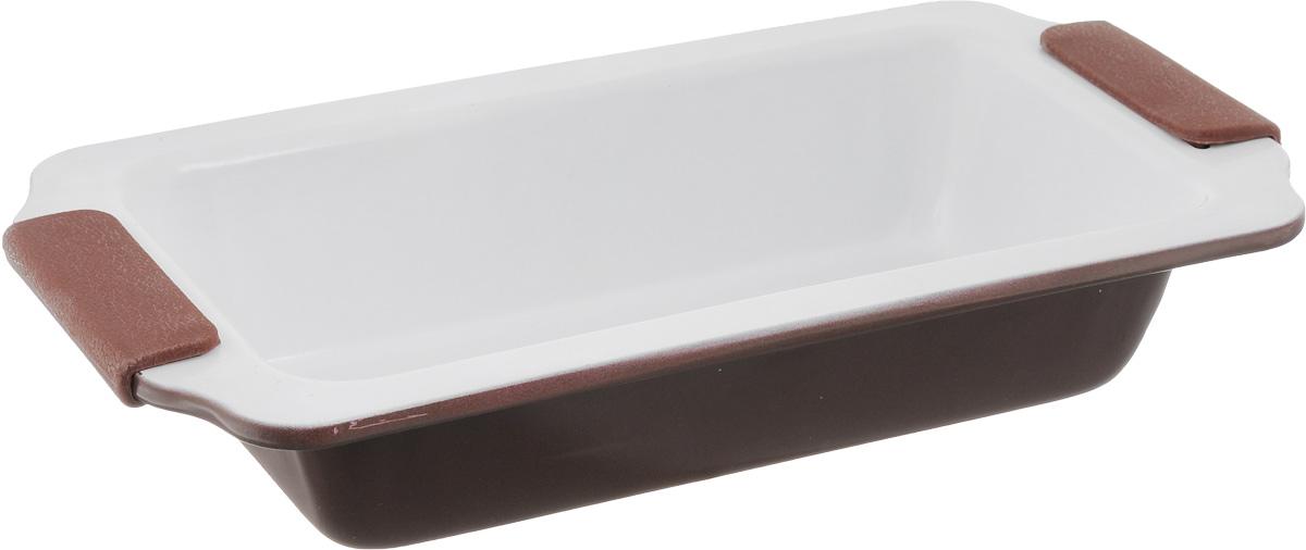 Форма для выпечки Guterwahl, с керамическим покрытием, прямоугольная, 31 х 17 х 6 смEC-S66-CERФорма для выпечки Guterwahl изготовлена из углеродистой стали с керамическим покрытием, благодаря чему пища не пригорает и не прилипает к стенкам посуды. Кроме того, готовить можно с добавлением минимального количества масла и жиров. Керамическое покрытие также обеспечивает легкость мытья. Форма идеально подходит для выпечки кексов, пирогов. Изделие имеет литые ручки с силиконовыми вставками, что существенно облегчает процесс готовки.Не рекомендуется мыть в посудомоечной машине.Внутренний размер формы: 24 х 12 см. Внешний размер формы (с учетом ручек): 31 х 17 см. Высота стенок формы: 6 см.