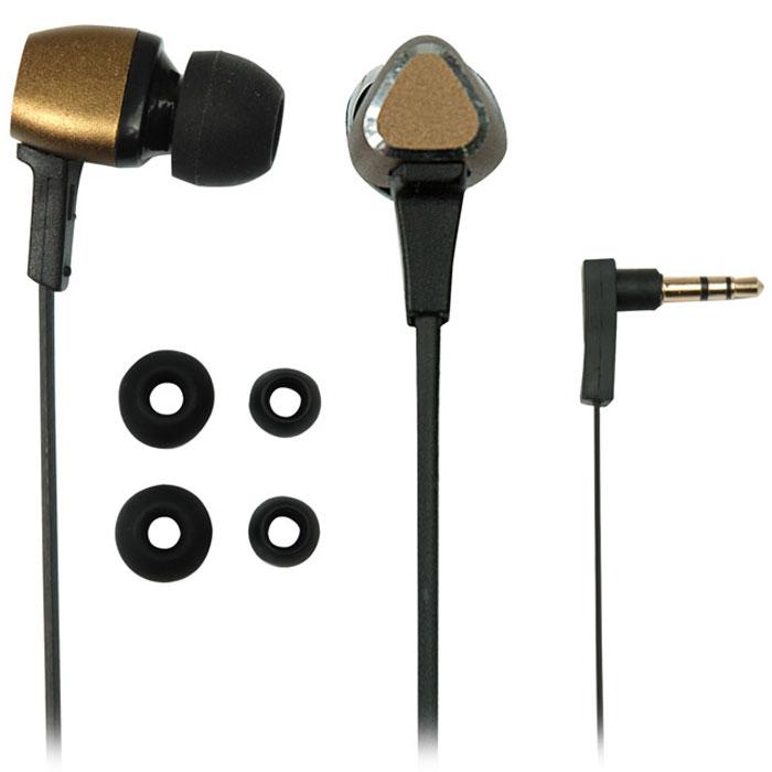 Ritmix RH-132 Metal, Bronze наушники15118141Ritmix RH-132 – это стильные портативные наушники-вкладыши, выполненные в металлическом корпусе. Наушники характеризуются качественным сбалансированным звучанием и оснащены плоским кабелем, который предотвращает провод от спутывания. Ritmix RH-132 отличаются комфортной посадкой, что позволяет наслаждаться любимой музыкой длительное время.