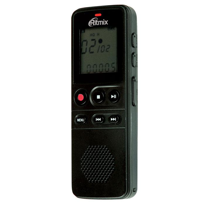 Ritmix RR-810 8GB, Black диктофон15118209Ritmix RR-810 - это цифровой диктофон в компактном корпусе с профессиональным качеством записи. Устройство имеет несколько режимов записи, оснащено качественным динамиком, а также поддерживает функцию съемного диска (при подключении к ПК для обмена данными установка дополнительного программного обеспечения не требуется).Рекордер имеет продвинутый набор функций: режим подавления внешних шумов, функция слухового аппарата, голосовая активация записи, световая и звуковая индикация работы, защита записей от случайного удаления, настройки скорости воспроизведения и многие другие.Несомненный плюс диктофона - питание от батарей. Теперь вы не привязаны к ПК или сети: просто замените батарейки и продолжайте запись дальше.RR-810 отличается богатой комплектацией: в комплект входит чехол для переноски, ремешок для ношения на руке и внешний петличный микрофон для удобства записи.Функция слухового аппаратаВстроенный динамикБыстрое начало записи нажатием одной клавишиРежим подавления внешних шумов - NC (Noise Cut)Голосовая активация записиЗащита записей от случайного удаленияРазличные настройки скорости воспроизведенияФункция музыкального плеера (воспроизведение файлов в формате MP3, WAV, WMA)Маркер дорожки (установка меток на длинных записях)Блокировка клавиш во избежание случайных нажатийВозможность прослушивания во время записиСветовая и звуковая индикация работы (отключается в настройках)Отображение оставшегося времени работы и заряда батарейУдаление файлов и форматирование без подключения к ПК