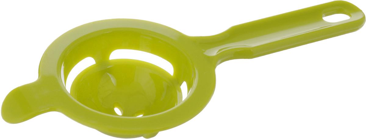 """Сепаратор для яйца """"Mayer & Boch"""" изготовлен из цветного полистирола. Он поможет быстро отделить желток от белка. Благодаря специальной ложечке с отверстиями, сквозь которые просачивается белок, желток остается в сепараторе, и вы аккуратно отделите их друг от друга. Сепаратор пригодится всем, кто любит печь пироги, бисквиты, а также баловать близких воздушными десертами.Можно мыть в посудомоечной машине.Диаметр рабочей части сепаратора: 8 см.Длина ручки: 9 см."""