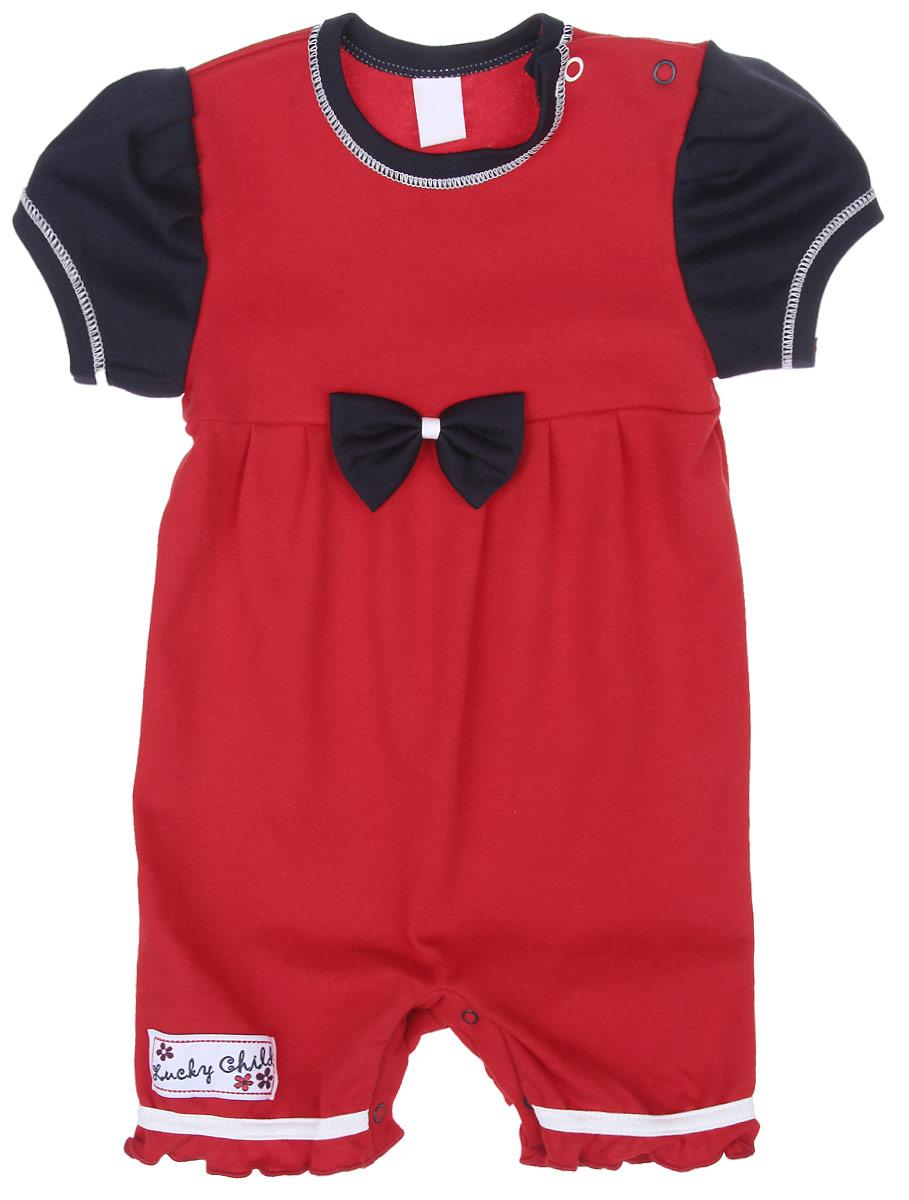 Песочник для девочки Lucky Child Романтик, цвет: красный, темно-синий. 18-28. Размер 86/92, 2 года худи веста худи