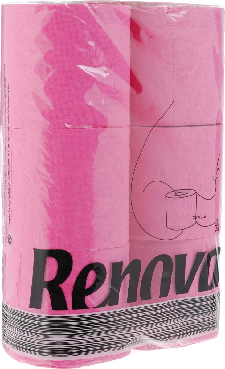 Туалетная бумага Renova Color, трехслойная, ароматизированная, цвет: фуксия, 6 рулонов02.03.05.5363Туалетная бумага Renova Color изготовлена по новейшей технологии из 100% ароматизированной целлюлозы с лосьоном, благодаря чему она имеет тонкий аромат, очень мягкая, нежная, но в тоже время прочная.Перфорация надежно скрепляет слои бумаги.Туалетная бумага Renova Color сочетает в себе простоту и оригинальность.Состав: 100% ароматизированная целлюлоза.Количество листов: 140 шт. Количество слоев: 3. Размер листа: 11,5 х 9,7 см. Количество рулонов: 6 шт.
