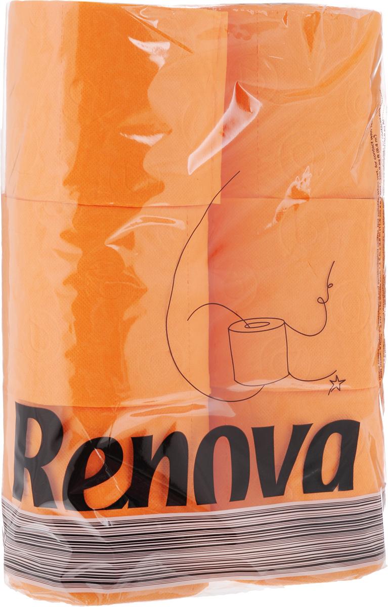 Туалетная бумага Renova Color, трехслойная, ароматизированная, цвет: оранжевый, 6 рулонов10481Туалетная бумага Renova Color изготовлена по новейшей технологии из 100% ароматизированной целлюлозы с лосьоном, благодаря чему она имеет тонкий аромат, очень мягкая, нежная, но в тоже время прочная.Перфорация надежно скрепляет слои бумаги.Туалетная бумага Renova Color сочетает в себе простоту и оригинальность.Состав: 100% ароматизированная целлюлоза.Количество листов: 140 шт. Количество слоев: 3. Размер листа: 11,5 х 9,7 см. Количество рулонов: 6 шт.