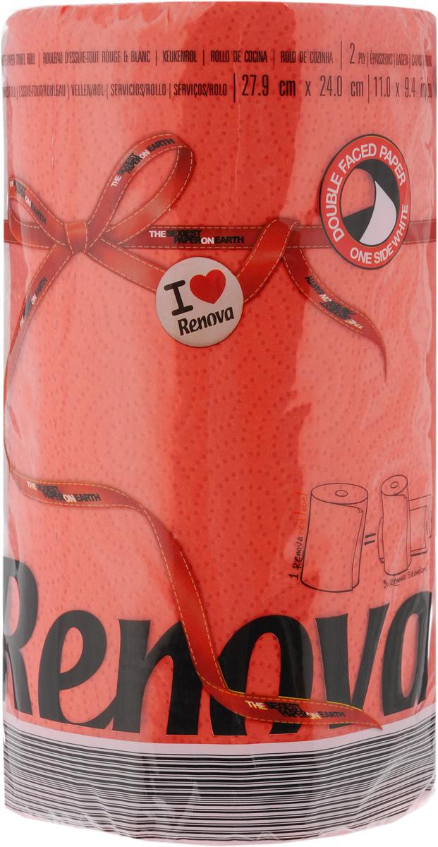 Полотенца бумажные Renova Red Label, двухслойные, цвет: красный 120 шт20909Двухслойные бумажные полотенца Renova Red Label, выполненные из натуральной целлюлозы, помогут обеспечить порядок и привнесут оригинальность в интерьер вашей кухни. Они способны поглощать большое количество жидкости, при этом оставаясь прочными и не разрываясь. Бумажные полотенца Renova Red Label совмещают в себе дизайн и текстуру, создавая возвышенную эстетику. Количество рулонов: 1 шт. Количество слоев: 2. Количество листов в рулоне: 120 шт.Размер листа: 27,9 х 24 см.