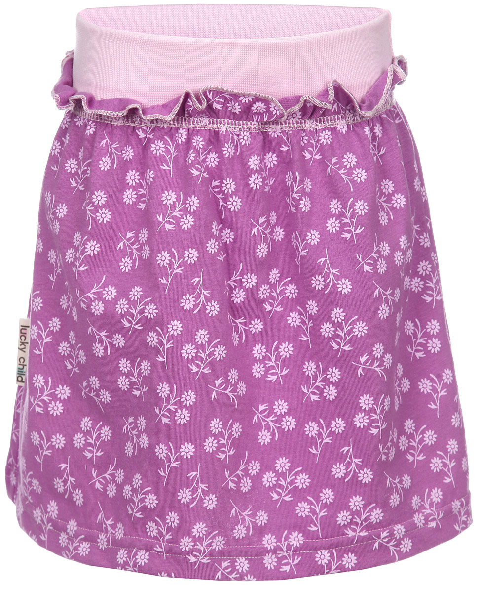 Юбка для девочки Lucky Child Цветочки, цвет: сиреневый, светло-розовый. 11-35. Размер 92/98, 3 года нина килхем как поджарить цыпочку