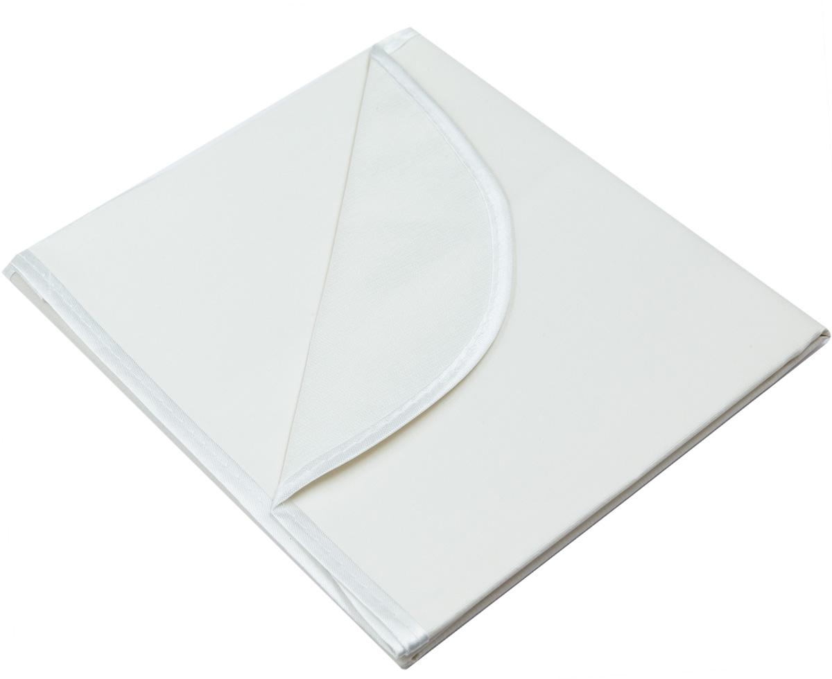 Колорит Клеенка подкладная с окантовкой цвет белый 50 х 70 см -  Подгузники и пеленки