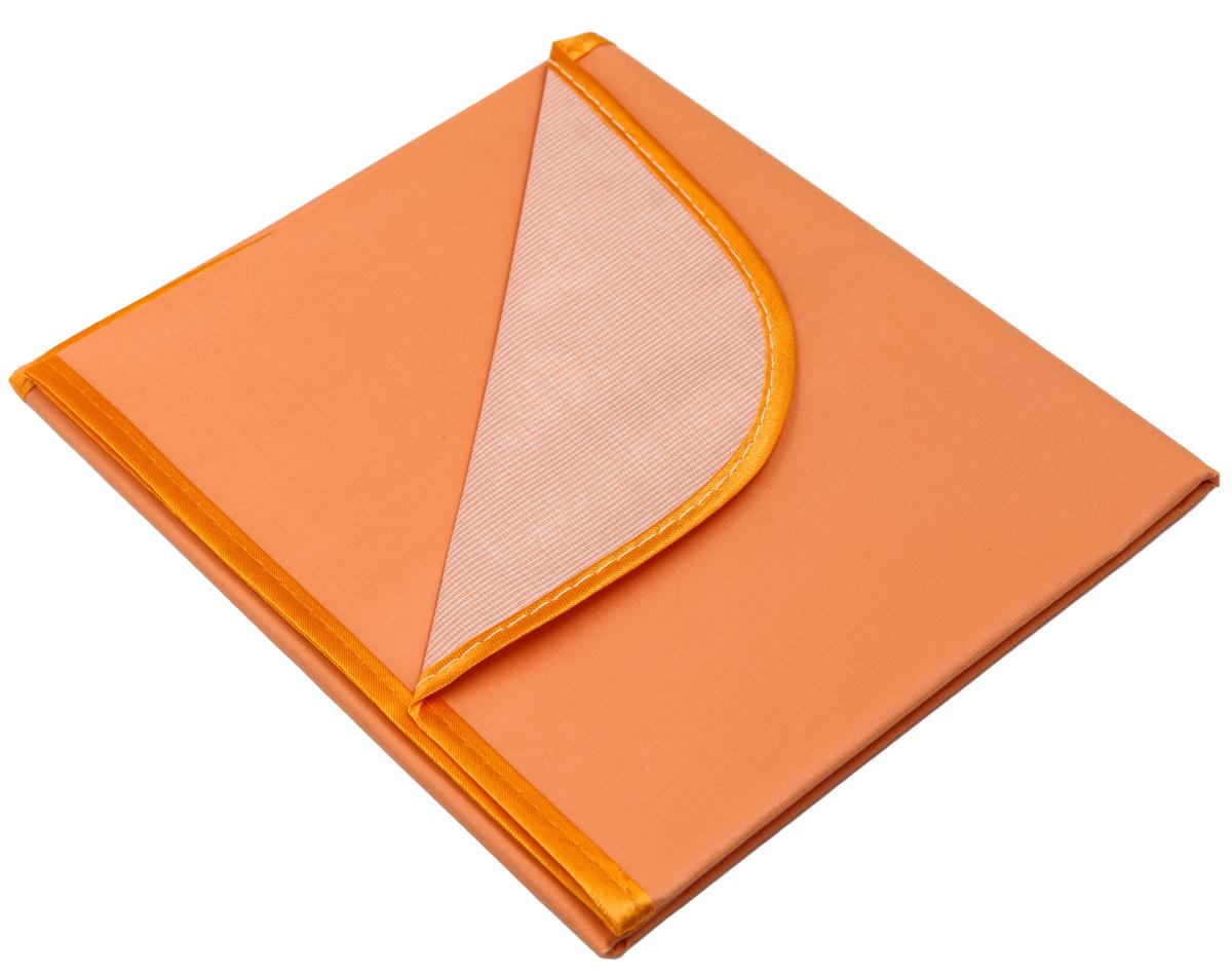 Колорит Клеенка подкладная с окантовкой цвет оранжевый 50 х 70 см
