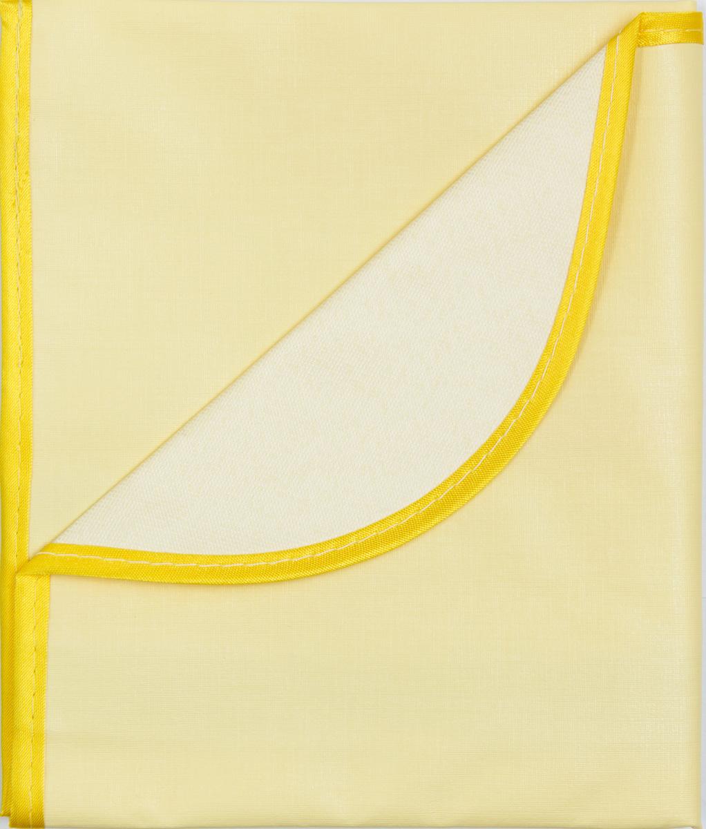 Колорит Клеенка подкладная с окантовкой цвет желтый 70 х 100 см