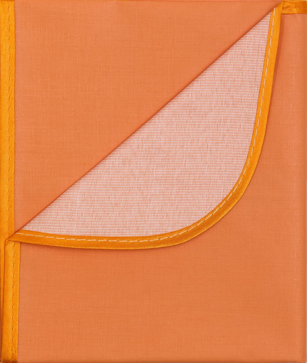 Колорит Клеенка подкладная с окантовкой цвет оранжевый 70 х 100 см