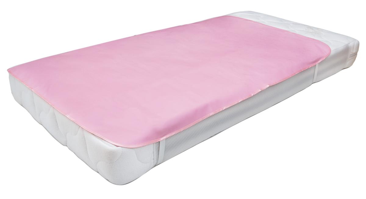 Колорит Клеенка подкладная с резинками-держателями цвет розовый 50 х 70 см