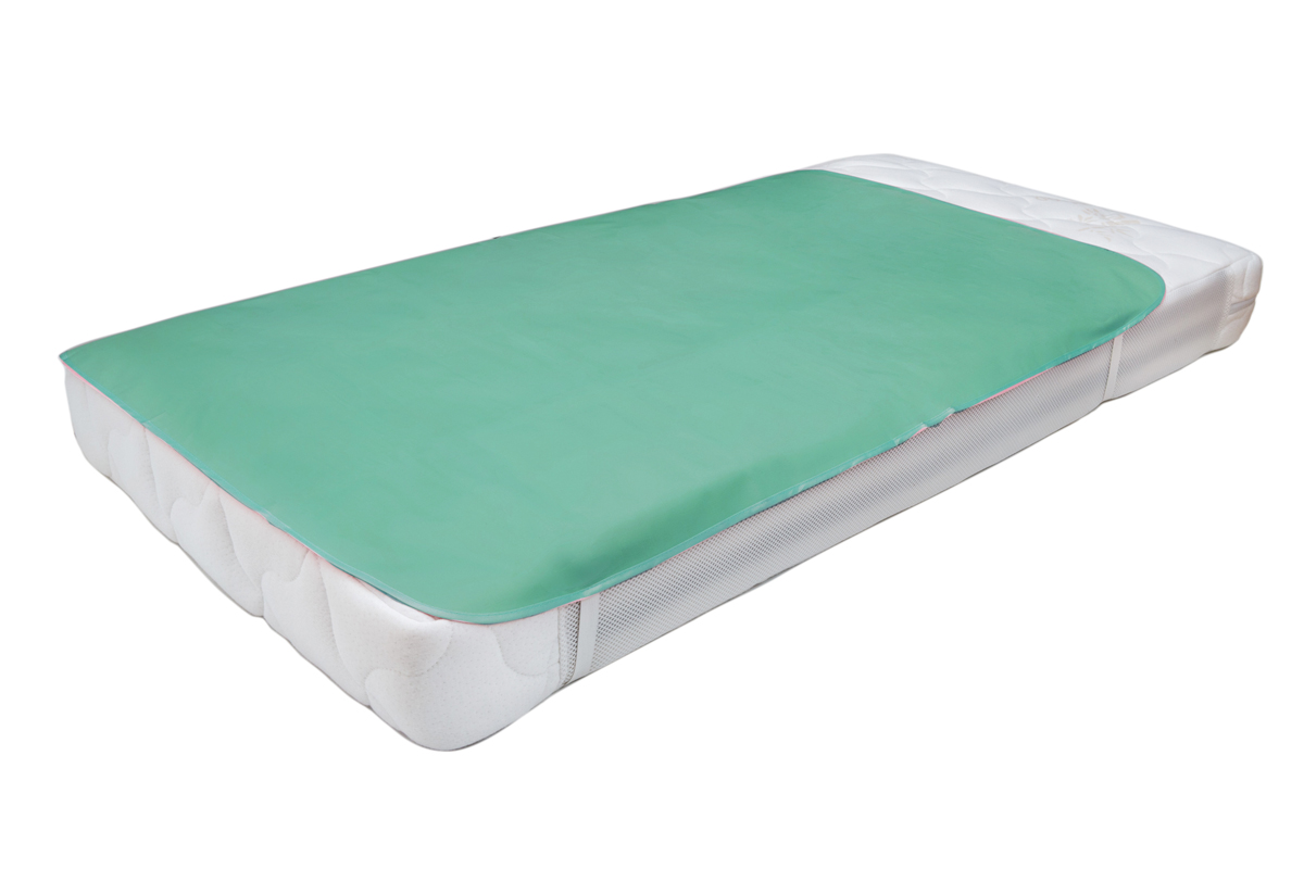 Колорит Клеенка подкладная с резинками-держателями цвет бледно-зеленый 50 х 70 см -  Подгузники и пеленки