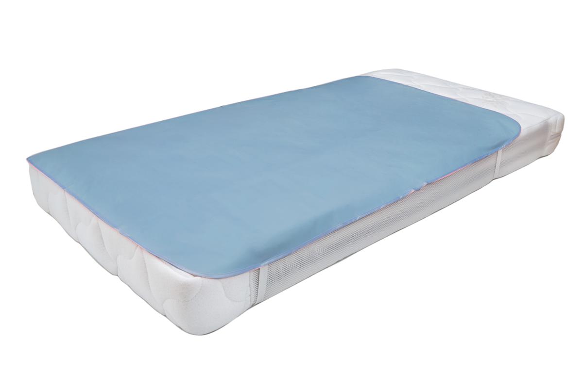 Колорит Клеенка подкладная с резинками-держателями цвет голубой 70 х 100 см -  Подгузники и пеленки
