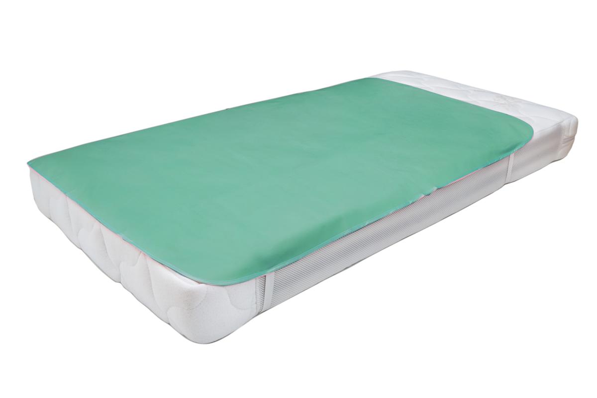 Колорит Клеенка подкладная с резинками-держателями цвет бледно-зеленый 70 х 100 см -  Подгузники и пеленки