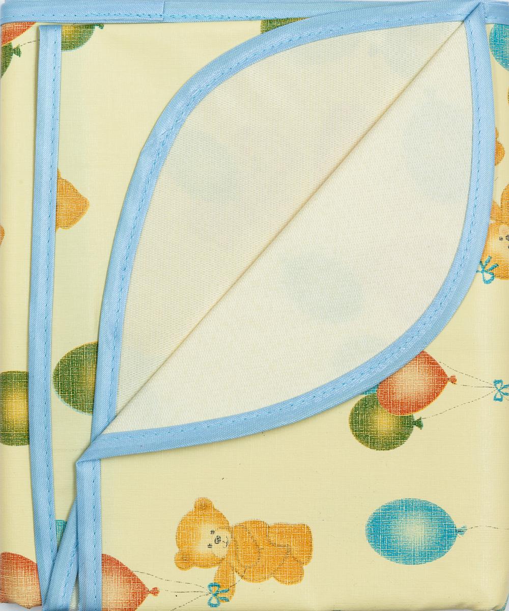 Колорит Клеенка подкладная с резинками-держателями цвет желтый голубой зеленый 70 х 100 см