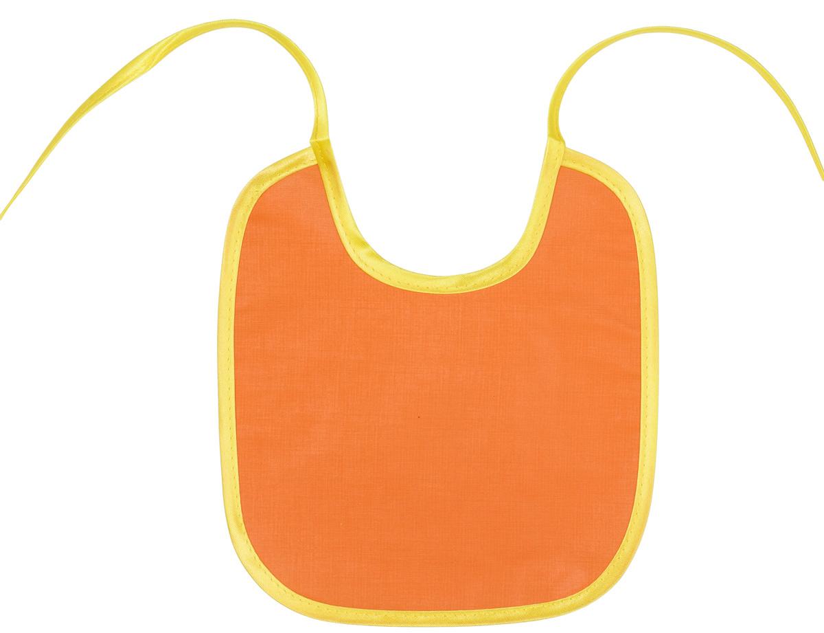 Колорит Нагрудник цвет оранжевый 20 см х 22 см