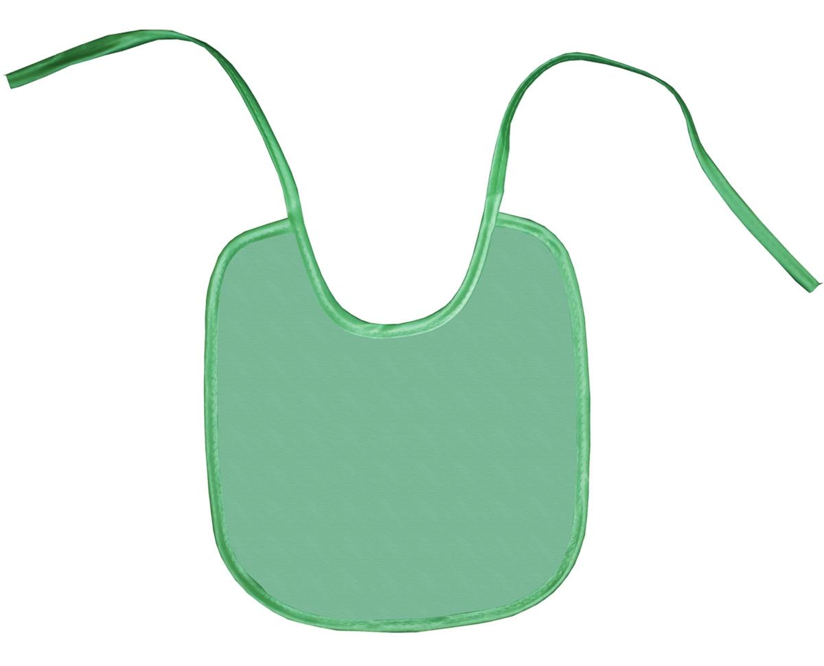 Колорит Нагрудник цвет зеленый 20 см х 22 см