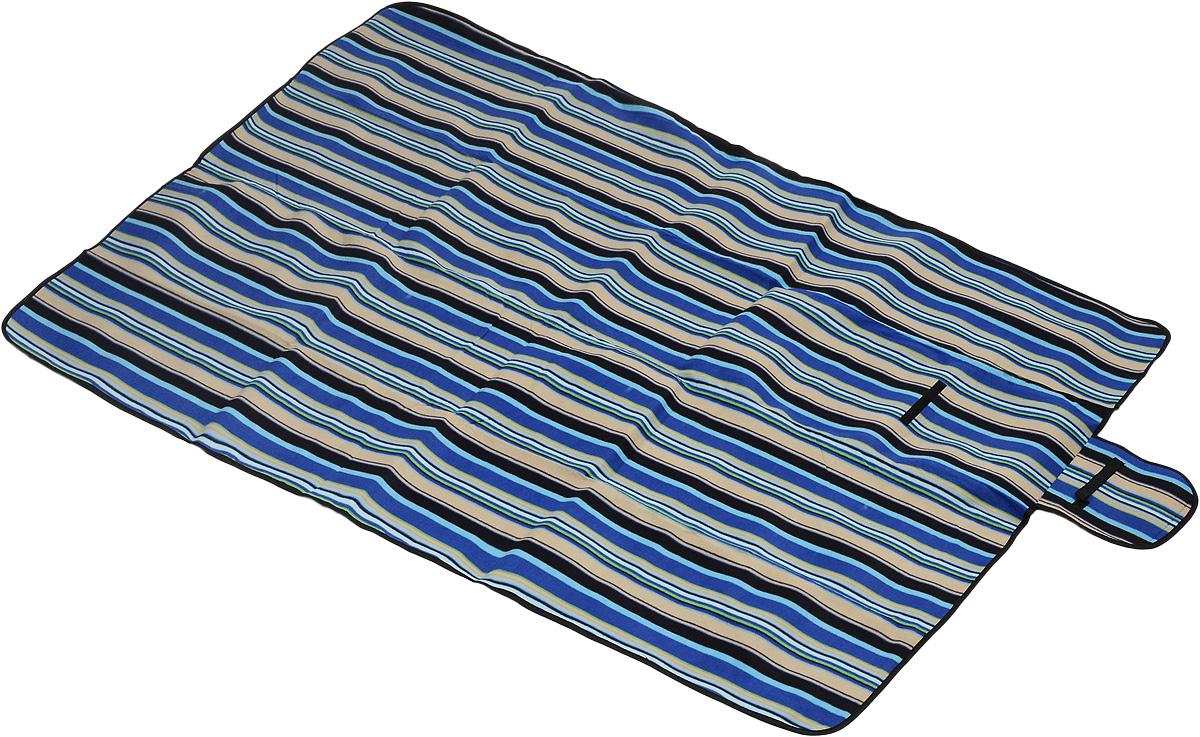 Коврик для пикника Wildman Флиппер, цвет: синий, черный, бежевый, 150 х 200 см81-394_синий, черный, бежевый, полосыКоврик для пикника Wildman Флиппер, выполненный из хлопка и полимерных материалов, позволит полноценно отдохнуть на природе.Он легкий, не занимает много места и прекрасно изолирует человеческое тело от холода и влаги. Мягкая поверхность коврика защищает от неровностей почвы, поэтому туристам, имеющим такую подстилку, гарантирован, кроме удобного отдыха, еще и комфортный сон.