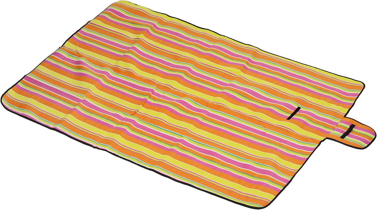 Коврик для пикника Wildman Флиппер, цвет: малиновый, салатовый, оранжевый, 150 х 200 см81-394Коврик для пикника Wildman Флиппер, выполненный из хлопка и полимерных материалов, позволит полноценно отдохнуть на природе.Он легкий, не занимает много места и прекрасно изолирует человеческое тело от холода и влаги. Мягкая поверхность коврика защищает от неровностей почвы, поэтому туристам, имеющим такую подстилку, гарантирован, кроме удобного отдыха, еще и комфортный сон.