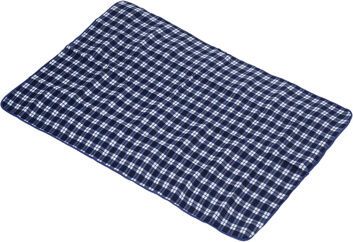 Коврик для пикника Wildman Виши, цвет: синий, белый, 180 х 150 см81-393_синий, белый, клеткаКоврик для пикника Wildman Виши, выполненный из хлопка и полимерных материалов, позволит полноценно отдохнуть на природе.Он легкий, не занимает много места и прекрасно изолирует человеческое тело от холода и влаги. Мягкая поверхность коврика защищает от неровностей почвы, поэтому туристам, имеющим такую подстилку, гарантирован, кроме удобного отдыха, еще и комфортный сон.