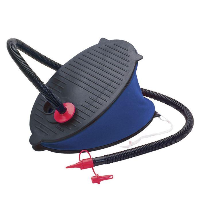 Насос ножной Intex, с насадками, цвет: синий. 69611533065Данная модель ножного воздушного насоса характеризуется объемом 3 литра, диаметром 29 см. Этот насос универсальный, как и все насосы торговой марки Интекс. Насос ножной 29 см - это новый модельный ряд помповых насосов, называемых термином Лягушка, обеспечивает быструю накачку при каждом нажатии на педаль и отпускании педали насоса.Насос не зависит от электричества - это универсальный механический насос, пригодный для накачивания матрасов, подушек, надувных кроватей и детских бассейнов.Чтобы не покупать к каждой вещи свой насос, компания производитель надувных изделий Интекс позаботилась о комплекте насадок, среди которых можно подобрать подходящий размер для каждой модели Интекс.