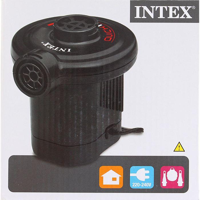 Насос электрический Intex, цвет: черный. 66620 надувной матрас camping mats 127х193х24см intex
