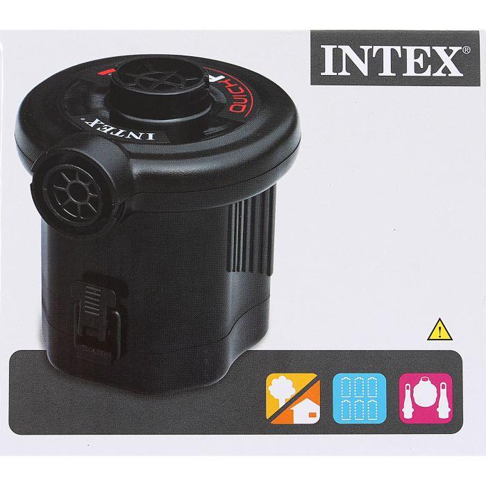 Насос электрический Intex, с 3 насадками, цвет: черный. 68638 насос электрический intex 220в со шлангом 66624