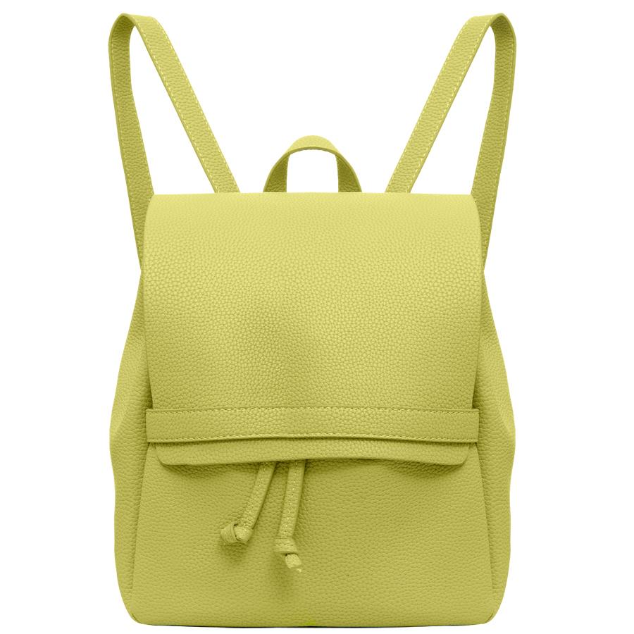 Рюкзак женский OrsOro, цвет: желтый. D-245/19D-245/19Стильный рюкзак OrsOro, выполнен из экокожи и оснащен двумя плечевыми ремнями на спинке и удобной ручкой для переноски.Изделие затягивается с помощью шнурков и закрывается клапаном на хлястик с фиксатором, внутри имеет одно вместительное отделение.Сумка-рюкзак OrsOro - это выбор молодой, уверенной, стильной женщины, которая ценит качество и комфорт. Изделие станет изысканным дополнением к вашему образу.