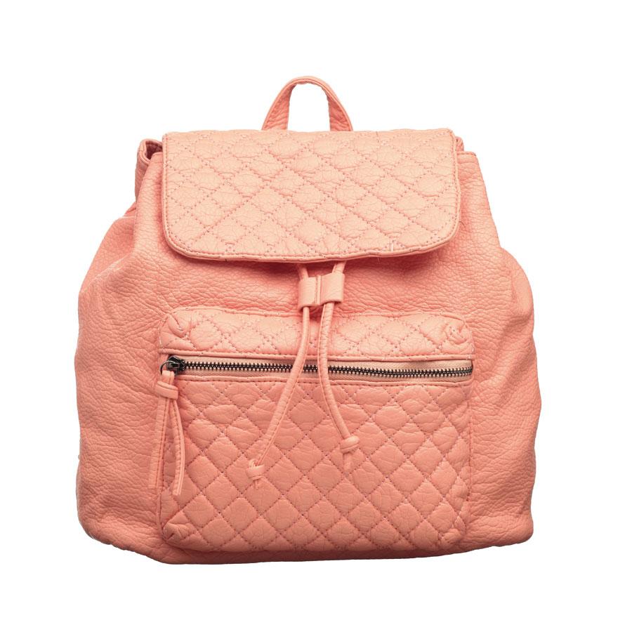 Рюкзак женский OrsOro, цвет: персиковый. D-255/17D-255/17Стильный рюкзак OrsOro, выполнен из экокожи и оснащен двумя плечевыми регулируемыми ремнями на спинке и удобной ручкой для переноски.Изделие закрывается клапаном на кнопкку, внутри имеет одно вместительное отделение с одним накладным карманом для телефона и мелочей и одним прорезным карманом на застежке-молнии. С тыльной стороны изделия имеется прорезной карман на застежке-молнии. Рюкзак оснащен также передним накладным карманом на молнии. Сумка-рюкзак OrsOro - это выбор молодой, уверенной, стильной женщины, которая ценит качество и комфорт. Изделие станет изысканным дополнением к вашему образу.