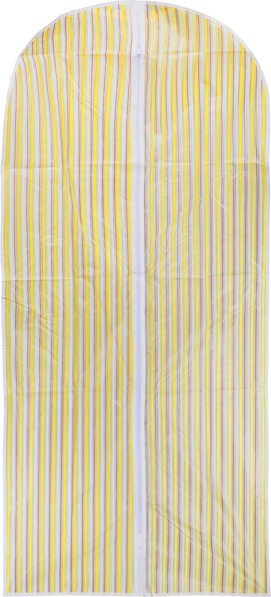 Чехол для одежды Eva, цвет: белый, желтый, красный, 135 х 60 см. Е-16301 чехол для одежды eva с прозрачной вставкой цвет черный белый 60 х 150 см