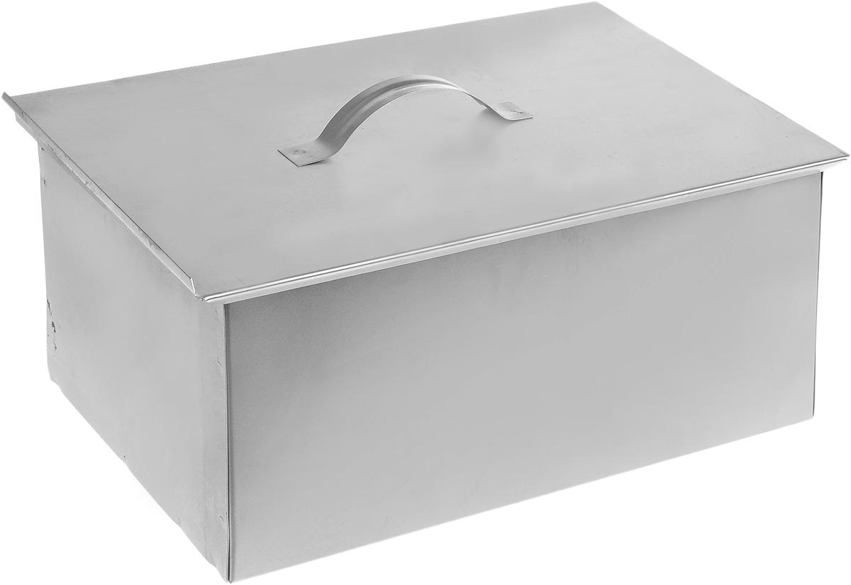 """Коптильня """"RoyalGrill"""" представляет собой стальную герметичную коробку, снабженную сдвигающейся крышкой. Коптильня предназначена для горячего копчения рыбы, мяса, птицы, сосисок и других продуктов на открытом воздухе.В комплект входит 2 решетки, которые позволяют осуществлять процесс копчения одновременно на 2-х уровнях. Размер коптильни: 39 х 27 х 16 см."""