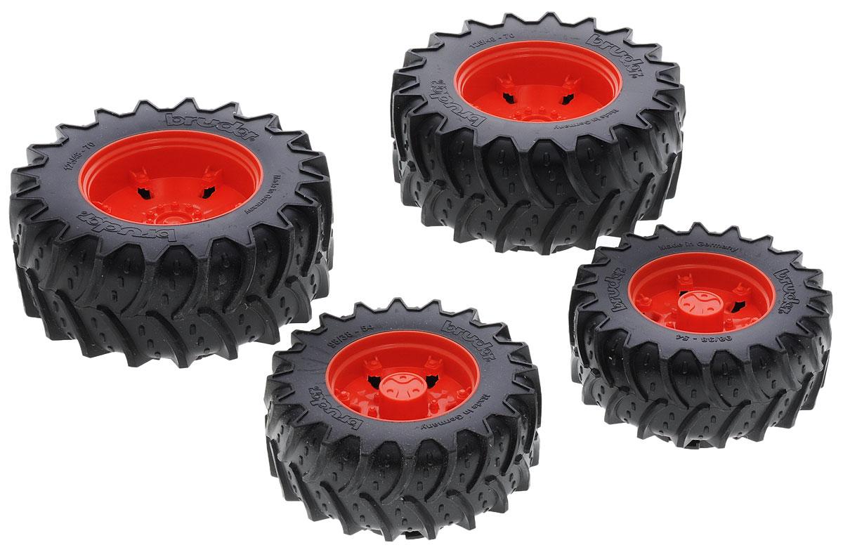 Bruder Шины для системы сдвоенных колес цвет красный 4 шт шины для системы сдвоенных колес bruder 02 013