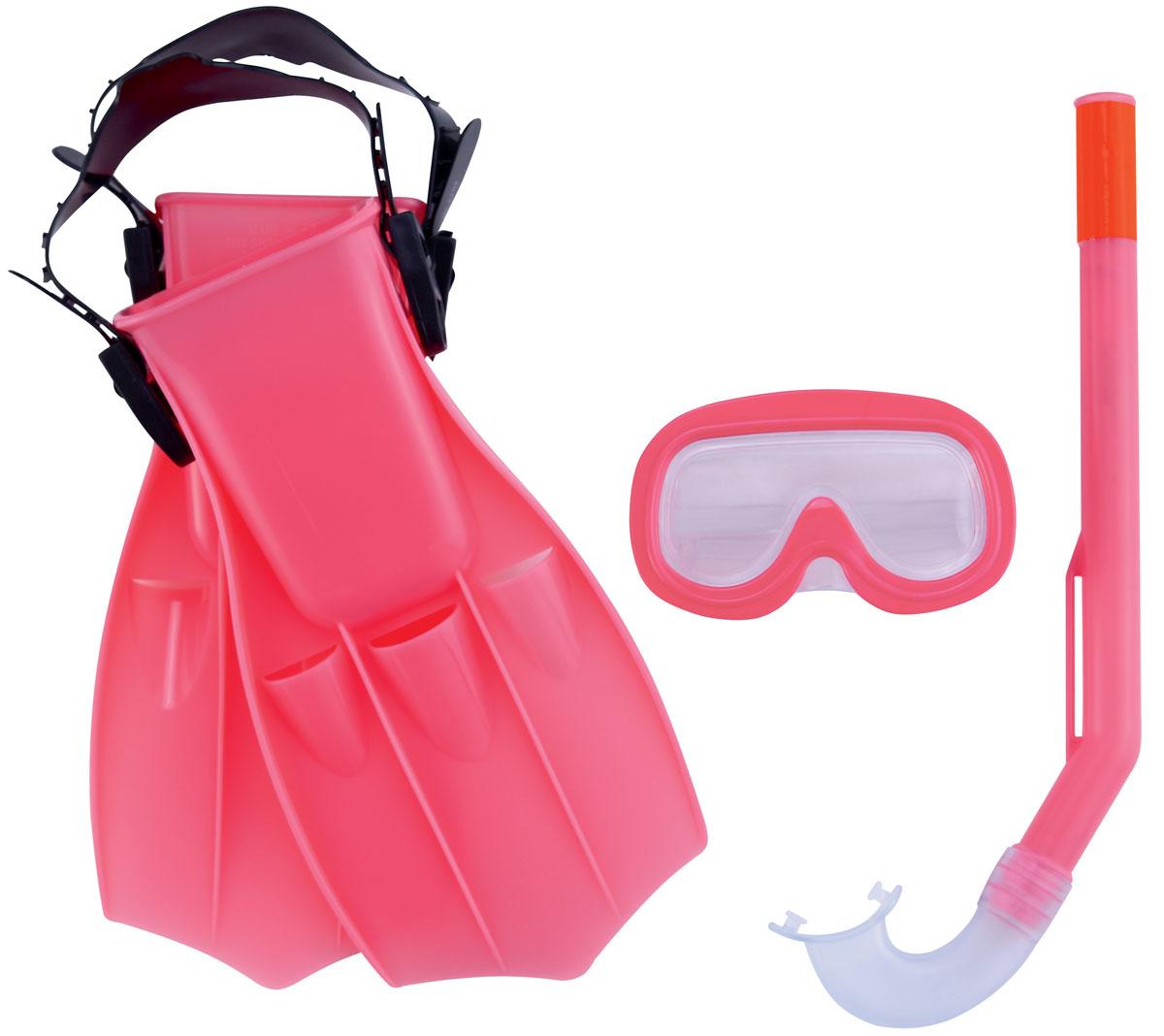 Bestway Набор для ныряния детский Play Pro. 2500825008Детский набор для ныряния Bestway Play Pro предназначен для малышей в возрасте от 3 до 6 лет. В комплект входит удобная маска, обеспечивающая хороший обзор и прочное крепление, ласты и трубка со специальным стандартным изгибом, надежно предотвращающая попадание воды. С таким набором вы можете быть спокойны за безопасность ребенка, изучающего подводный мир. Гарантией качества, удобства и прочности этого набора является его известный производитель Bestway. Этот бренд, появившийся еще в 1993 году, зарекомендовал себя на рынке как изготовитель первоклассных изделий для активного отдыха.