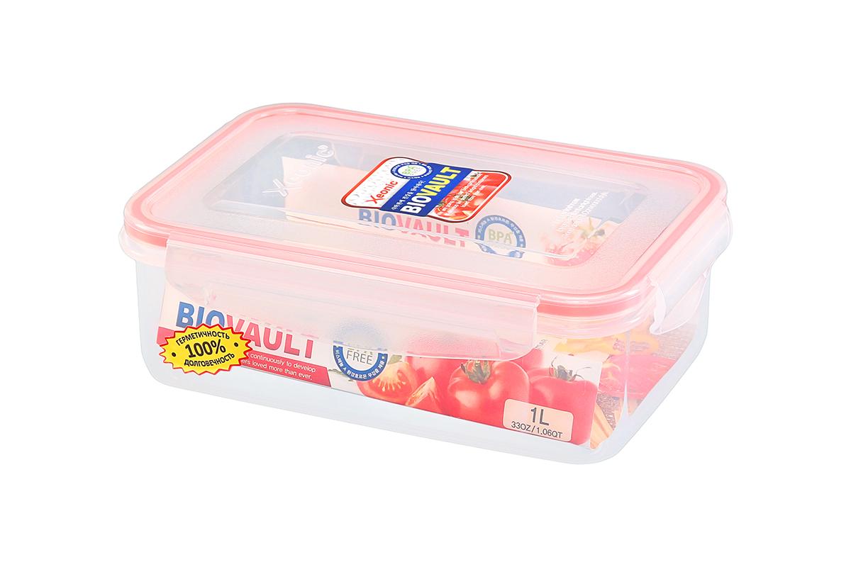 """Пластиковые герметичные контейнеры для хранения продуктов """"Xeonic"""" произведены из высококачественных материалов, имеют 100% герметичность, термоустойчивы, могут быть использованы в микроволновой печи и в морозильной камере, устойчивы к воздействию масел и жиров, не впитывают запах. Удобны в использовании, долговечны, легко открываются и закрываются, не занимают много места, можно мыть в посудомоечной машине.   Размеры контейнера: 20,5 х 13,5 х 7 см."""