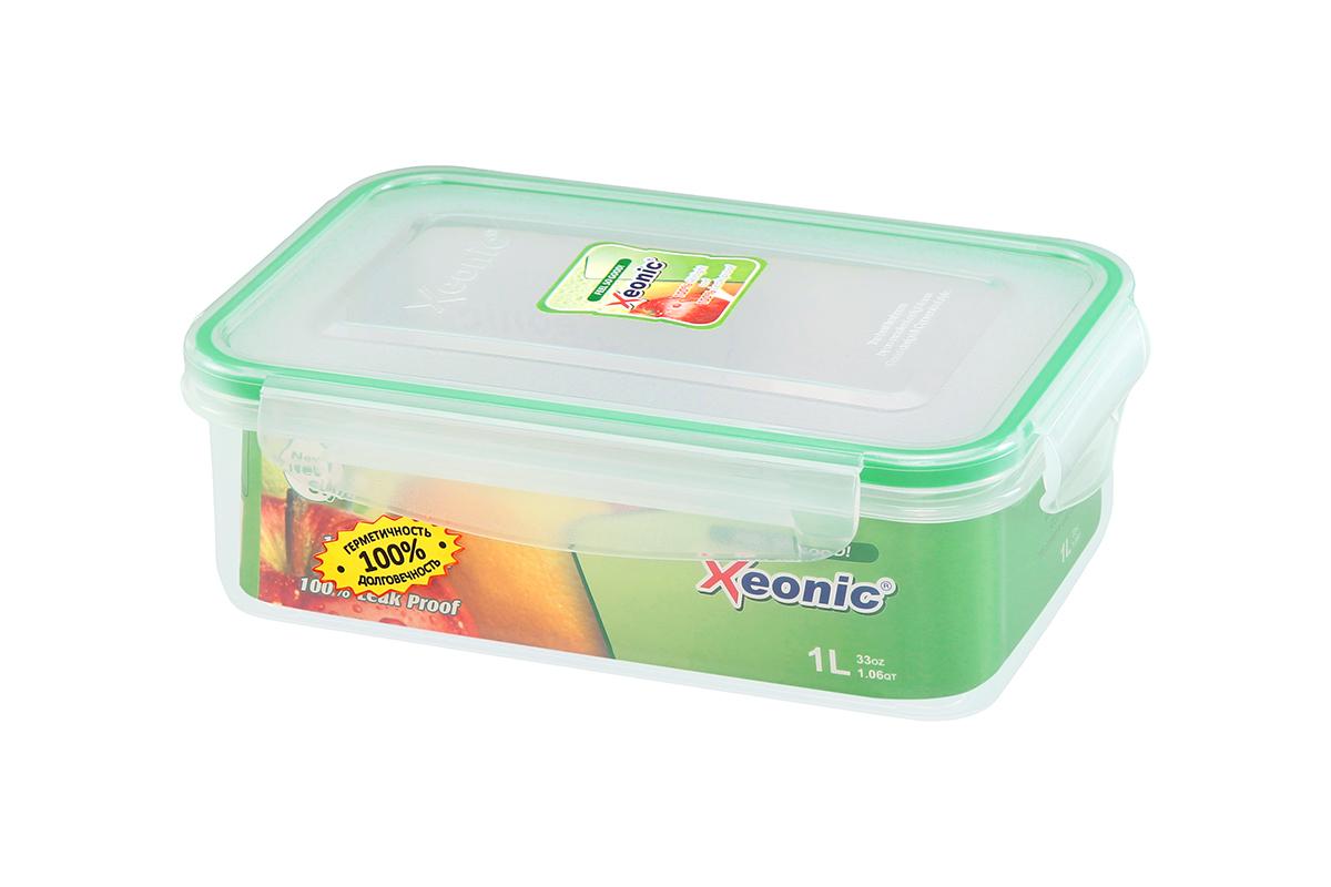 """Пластиковый герметичный контейнер для хранения продуктов """"Xeonic"""" произведен из высококачественных материалов, имеет 100% герметичность, термоустойчив, может быть использованы в микроволновой печи и в морозильной камере, устойчив к воздействию масел и жиров, не впитывают запах. Удобен в использовании, долговечен, легко открывается и закрывается, не занимает много места, можно мыть в посудомоечной машине.     Размеры контейнера: 20,5 х 13,5 х 7 см."""
