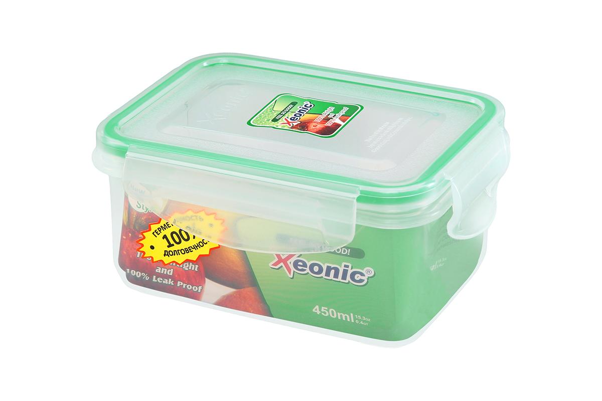"""Контейнер """"Xeonic"""", изготовленный из высококачественного полипропилена, предназначен для хранения любых пищевых продуктов. Крышка с  силиконовой вставкой герметично защелкивается специальным механизмом. Изделие устойчиво к воздействию масел и жиров, не впитывает запах. Прозрачные стенки позволяют видеть  содержимое. Контейнер """"Xeonic"""" удобен для ежедневного использования в быту, долговечен,  легко открывается и закрывается, не занимает много места. Можно мыть в посудомоечной машине, использовать в микроволновой печи и морозильной  камере."""