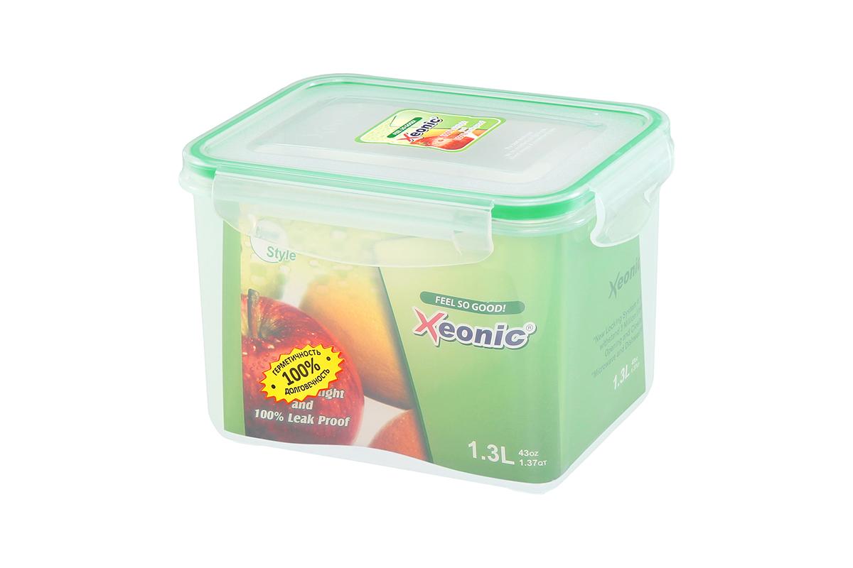 """Пластиковые герметичные контейнеры для хранения продуктов """"Xeonic"""" произведены из высококачественных материалов, имеют 100% герметичность, термоустойчивы, могут быть использованы в микроволновой печи и в морозильной камере, устойчивы к воздействию масел и жиров, не впитывают запах. Удобны в использовании, долговечны, легко открываются и закрываются, не занимают много места, можно мыть в посудомоечной машине.   Размеры контейнера: 16,5 х 12 х 11,8 см."""