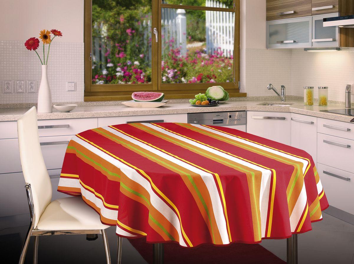 Скатерть Wisan, овальная, цвет: красный, 130 х 180 см334ВВеликолепная овальная скатерть Wisan органично впишется в интерьер любого помещения, а оригинальный дизайн удовлетворит даже самый изысканный вкус. Изделие выполнено из полиэстера и хлопка. Края скатерти закруглены.