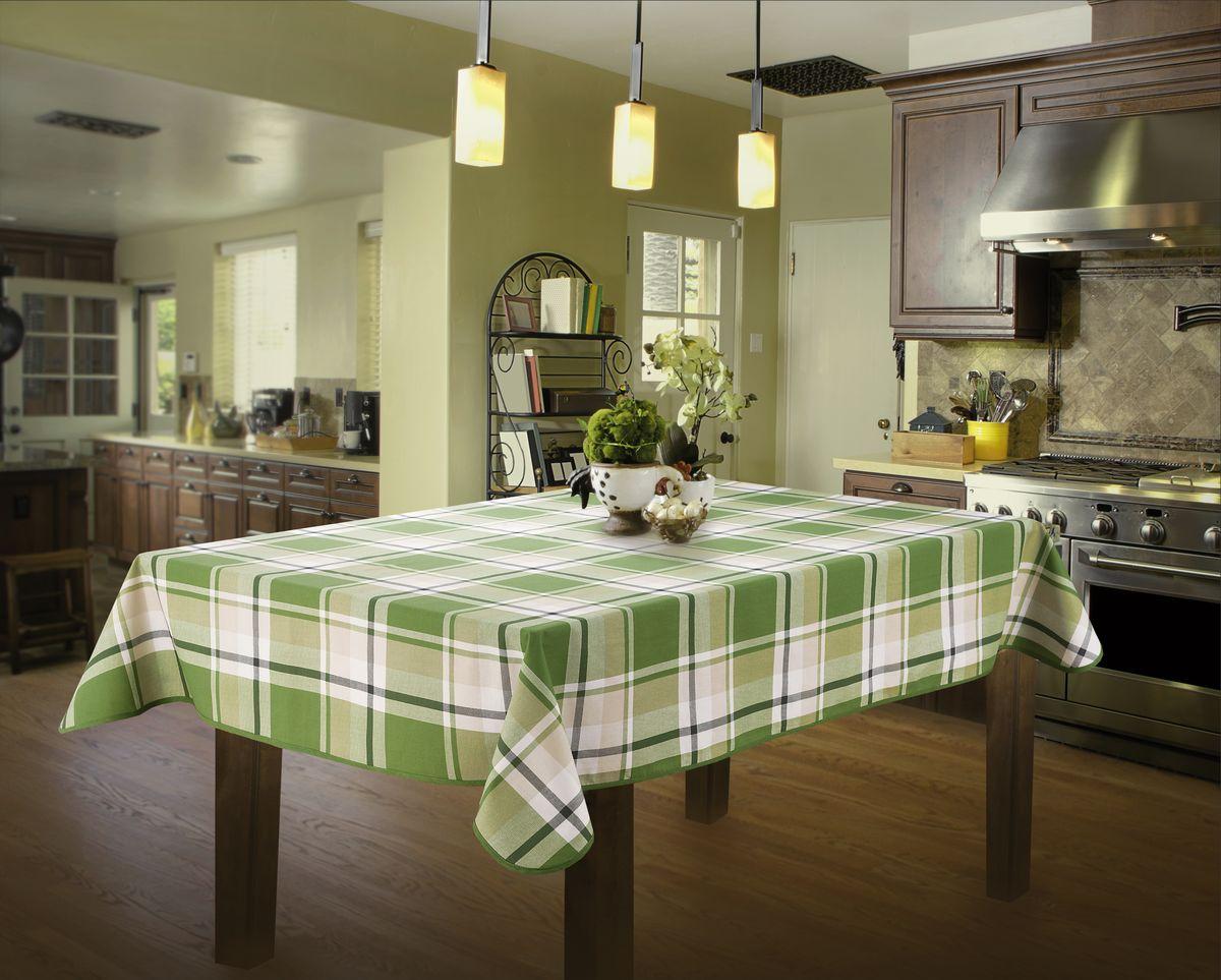 Скатерть Wisan, прямоугольная, цвет: зеленый, 130 х 160 см331ВВеликолепная скатерть Wisan органично впишется в интерьер любогопомещения, а оригинальный дизайн удовлетворит даже самый изысканный вкус.Изделие выполнено из полиэстера и хлопка.Края скатерти закруглены.