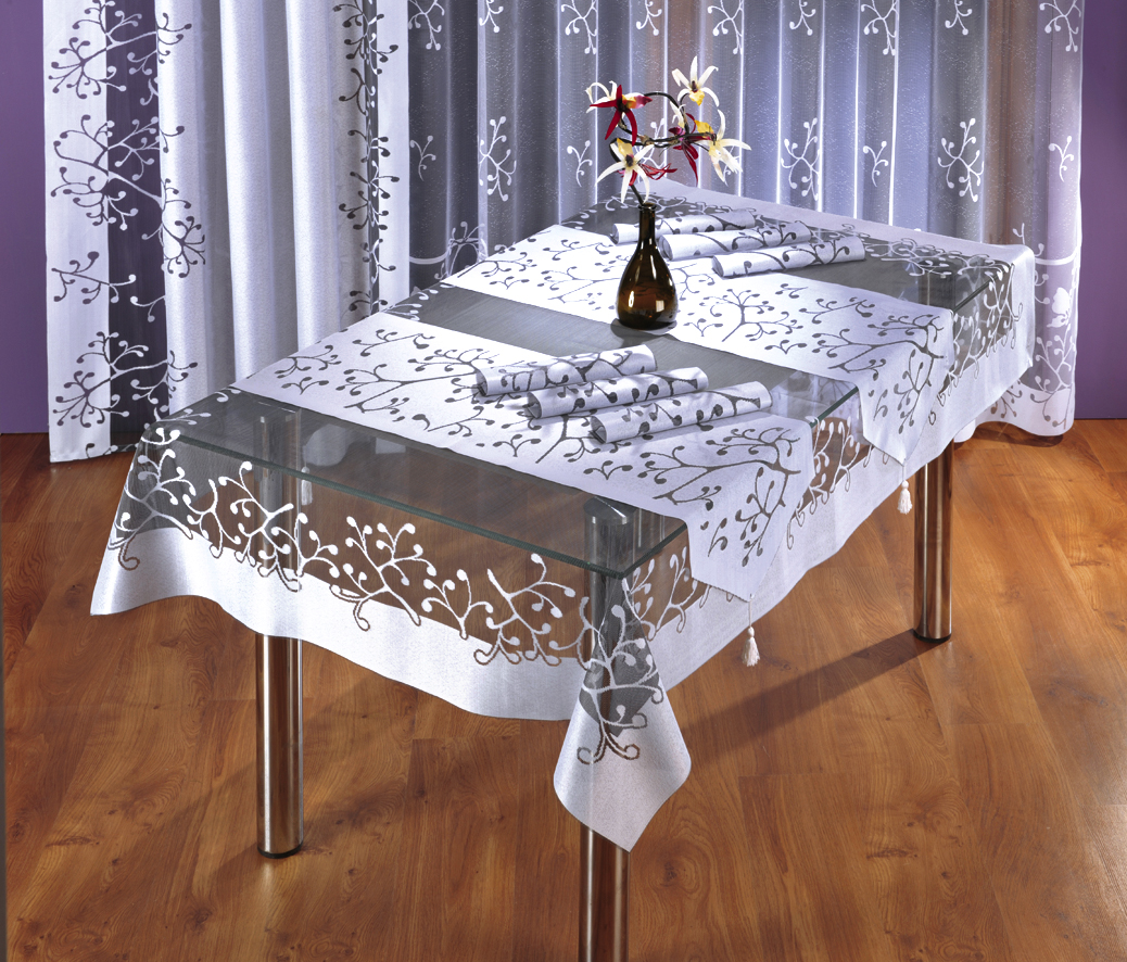 Скатерть Wisan, прямоугольная, цвет: белый, серый, 130 х 180 см3276 серая-белаяВеликолепная прямоугольная скатерть Wisan органично впишется в интерьер любого помещения, а оригинальный дизайн удовлетворит даже самый изысканный вкус. Изделие выполнено из полиэстера.