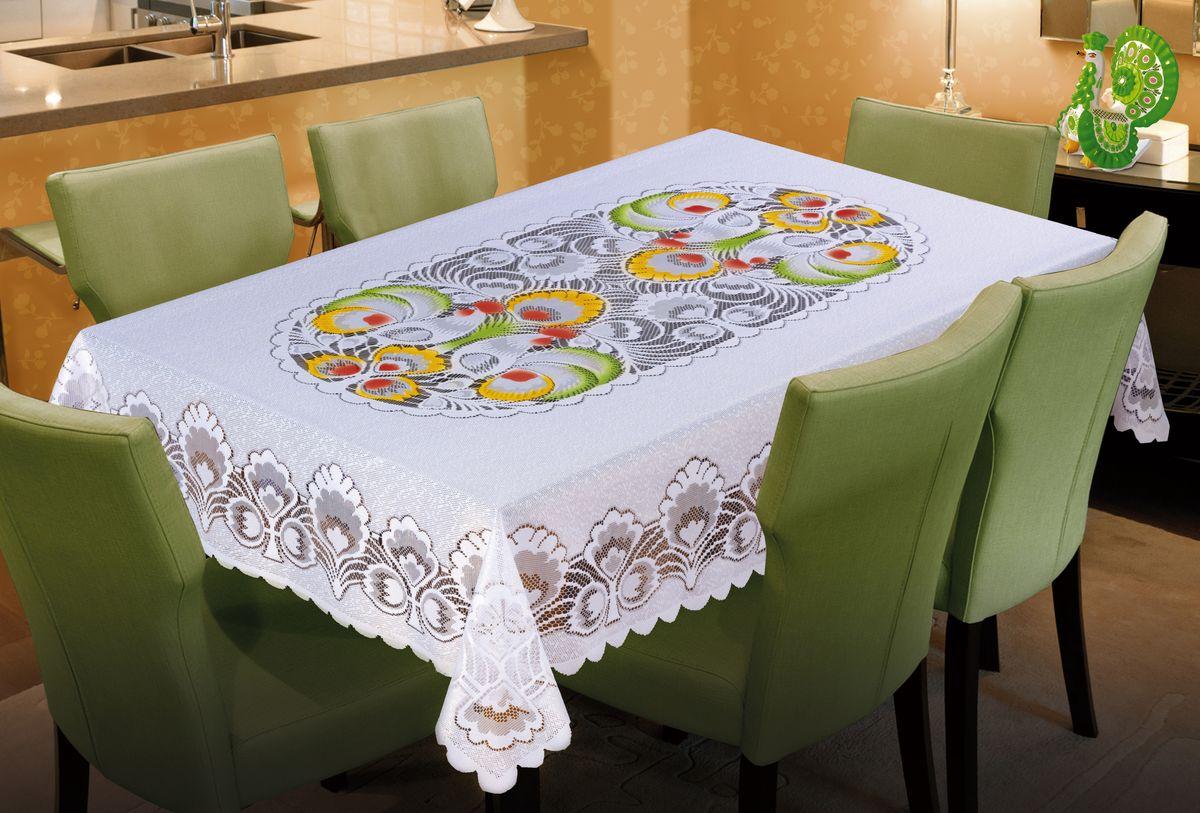 Скатерть Wisan, прямоугольная, цвет: белый, 130 х 180 см wisan wisan скатерть rika 130х170 см