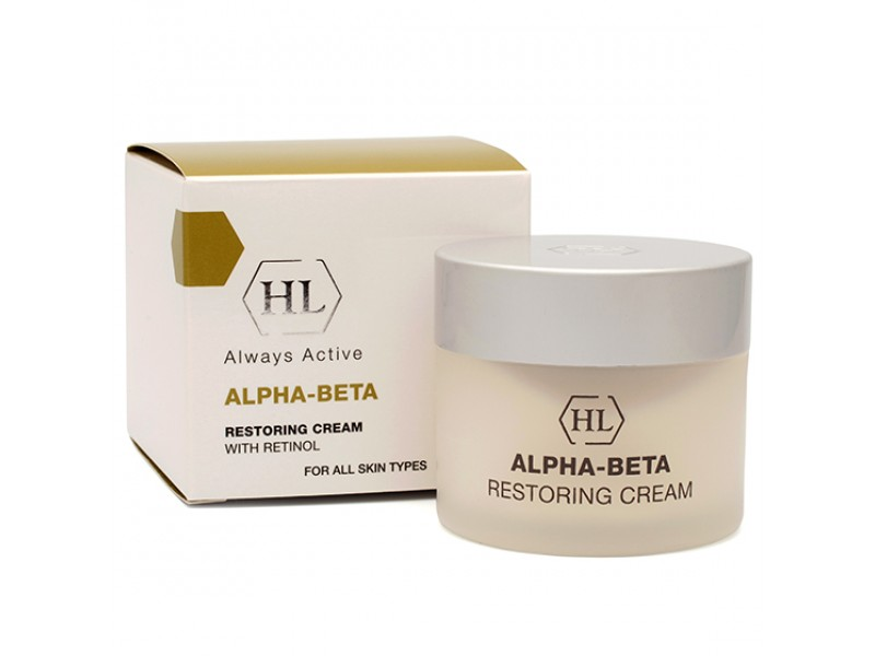 Holy Land Восстанавливающий крем Alpha-Beta and Retinol Restoring Cream, 50 мл holy land alpha beta & retinol restoring soap обновляющее мыло 125 мл