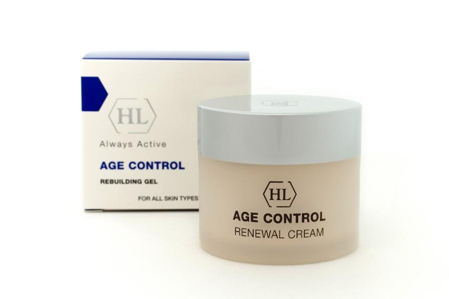 Holy Land Обновляющий крем Age Control Renewal Cream, 50 мл112067Легкий крем нежной текстуры обеспечивает глубокое проникновение фитоэстрогенов, протеинов и антиоксидантов после использования сыворотки и геля. Содержит солнечные фильтры.Действие:Обеспечивает глубокое увлажнение.Уменьшает глубину морщин.Обладает заметным подтягивающим действием.Активные компоненты: Экстракт красного клевера, экстракт дикого ямса, стерол из бобов сои, гидролизованные соевые протеины, экстракт семян Camellia Oieifera.