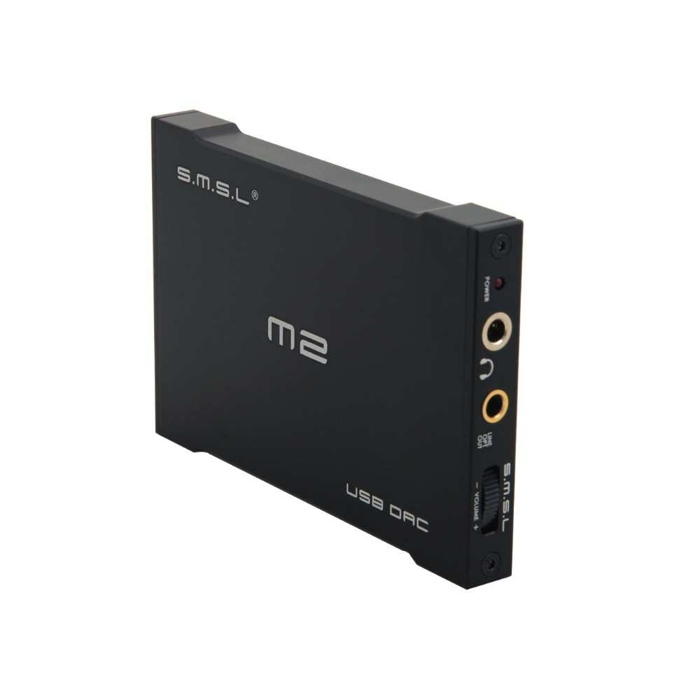 SMSL M2, Black усилитель для наушников6970141850182SMSL M2 – это миниатюрный ЦАП со встроенным усилителем для наушников и USB-интерфейсом. Устройство способно преобразовывать DSD-файлы путём конвертации их в PCM.M2 основан на хорошо зарекомендовавшем себя чипе ESS Sabre ES9023. Он поддерживает воспроизведение звука с кодированием до 24 бит/96 кГц, а также может использоваться для вывода цифрового звука при помощи встроенного оптического выхода.