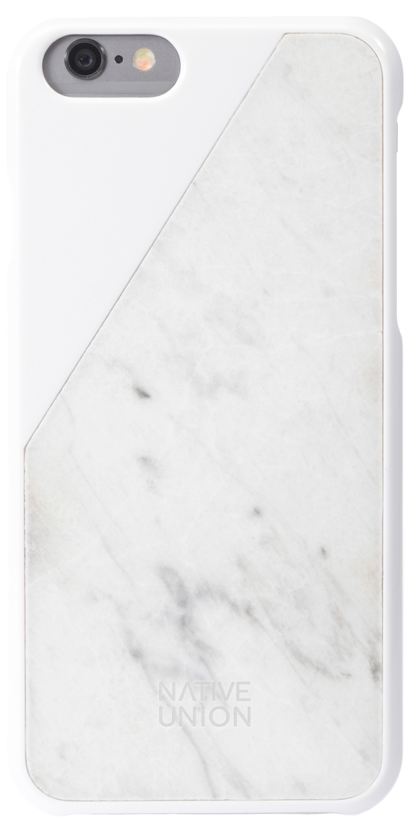 Native Union CLIC Marble мраморный чехол для iPhone 6/6s, White