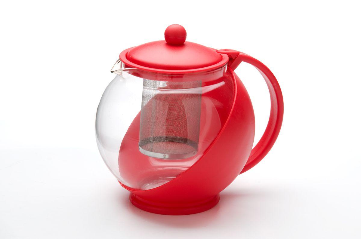 Заварочный чайник Mayer & Boch, с ситечком, 750 мл25738Заварочный чайник Mayer & Boch изготовлен из пластика и термостойкого боросиликатного стекла. Посуда из стекла позволяет максимально сохранить полезные свойства и вкусовые качества воды. Прозрачные стенки чайника придают ему эстетичности на столе и помогают определить крепость завариваемого напитка. Внутренняя сеточка для заварки также выполняет функцию фильтра, который задержит чаинки. За чайником легко ухаживать, так как его можно мыть в посудомоечной машине.Объем: 750 мл.