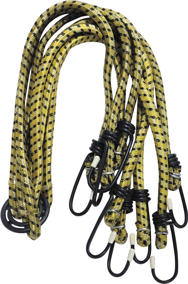 Стяжки для багажника Zipower, эластичные, 75 см, 4 штPM 4252Эластичные стяжки для багажника Zipower позволяют надежно зафиксировать груз в открытом багажнике автомобиля, велосипеда. Прочные металлические крючки обеспечивают удобное крепление. Эластичный материал стяжек прочен, долговечен, устойчив к изнашиванию и истиранию. Стяжки можно использовать раздельно или вместе с центральным кольцом (паук).Длина стяжек: 75 см.Количество стяжек: 4.
