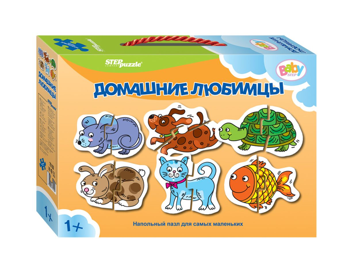 Step Puzzle Пазл для малышей Домашние любимцы 6 в 1