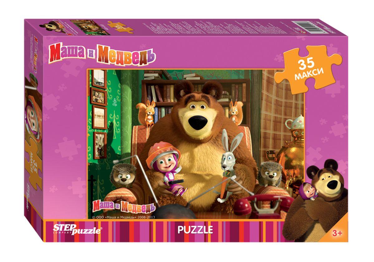 Step Puzzle Пазл для малышей Маша и Медведь 91211 пазл step puzzle развивающие паззлы союзмультфильм путешествие в мир добра в асс 76064