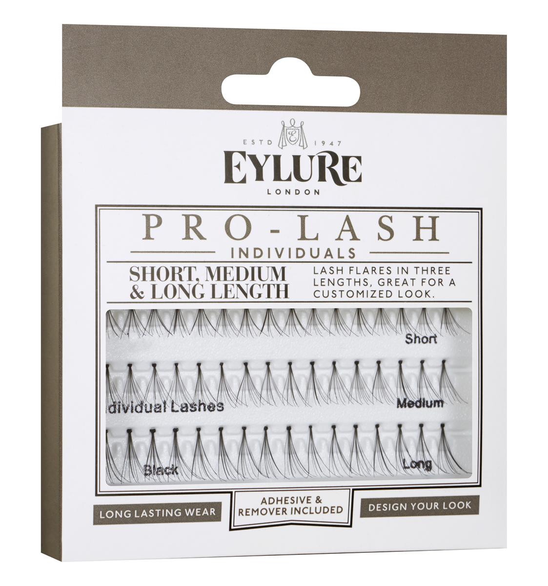 Eylure Индивидуальные пучки для наращивания Individual Lashes -Individuals PRO-LASH Combo eylure complete starter kit volume 101 стартовый набор накладных ресниц объемные 101 eylure